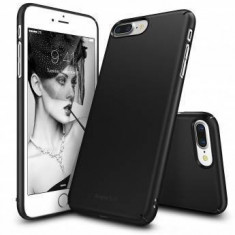 Husa Protectie Spate Ringke Slim Black pentru Apple iPhone 7 Plus si folie protectie display - Husa Telefon