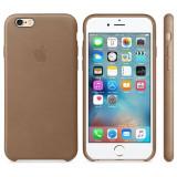 Husa Protectie Spate Apple Leather Case Maron pentru iPhone 6s plus - Husa Telefon
