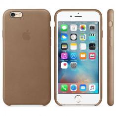 Husa Protectie Spate Apple Leather Case Maron pentru iPhone 6s plus - Husa Telefon Apple, iPhone 6 Plus, Piele