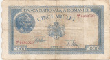 ROMANIA 5000 LEI SEPTEMBRIE 1943 F