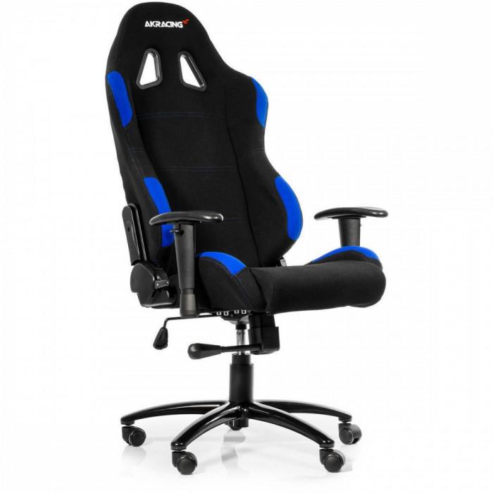 Scaun gaming AKRacing K7012 Black-Blue foto mare