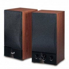 Sistem audio 2.0 Genius SP-HF1250B Hi-Fi cherry wood - Boxe PC