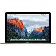 Laptop Apple MacBook 12 inch Retina Intel Skylake Core M3 1.1GHz 8GB DDR3 256GB SSD Intel HD Graphics 515 Mac OS X El Capitan Gold RO keyboard