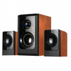 Sistem audio 2.1 Serioux Soundboost HT2100C Cherry Wood - Boxe PC
