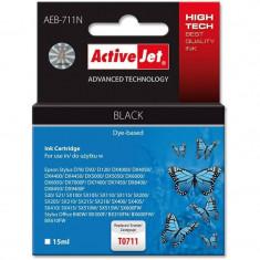 Consumabil ActiveJet Cartus compatibil pentru Epson T0711 C13T07114011 Black - Cartus imprimanta