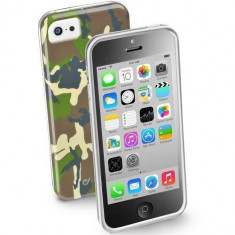 Husa Protectie Spate Cellularline ARMYCIPH5CG Army Verde pentru APPLE Iphone 5c - Husa Telefon