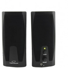 Sistem audio 2.0 Esperanza Giocoso Black - Boxe PC