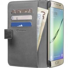 Husa Flip Cover Cellularline BOOKAGENDAPHS6EPLK Agenda Negru pentru Samsung Galaxy S6 Edge Plus - Husa Telefon