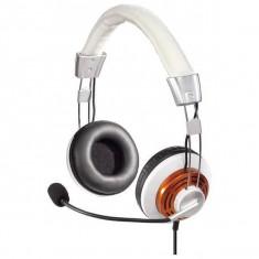 Casti Hama HS-320 White / Gold, Casti Over Ear