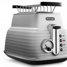 Prajitor de paine Delonghi CTZ 2103.W Scultura 900W alb, 2 felii
