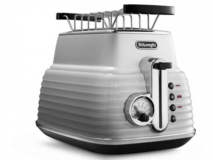 Prajitor de paine Delonghi CTZ 2103.W Scultura 900W alb
