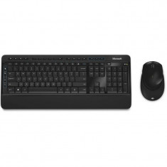 Kit tastatura si mouse Microsoft Wireless Desktop 3050 Black, Fara fir