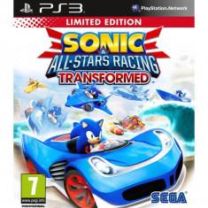 Joc consola Sega Sonic and All Stars Racing Transformed Limited Ed PS3 - Jocuri PS3 Sega, Curse auto-moto, 12+