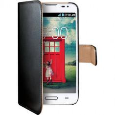 Husa Flip Cover Celly WALLY395 Negru pentru LG L70 - Husa Telefon