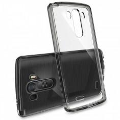 Husa Protectie Spate Ringke FUSION Smoke Black plus folie protectie pentru LG G3 - Husa Telefon
