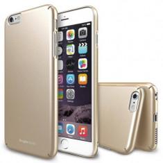 Husa Protectie Spate Ringke Slim Royal Gold plus folie protectie display pentru iPhone 6s Plus