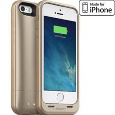 Husa cu incarcare Mophie Space Pack Gold 32GB 1700 mAh pentru Apple iPhone 5S / SE