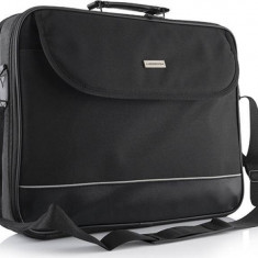 Geanta Laptop Modecom Mark 2 Neagra 17 inch, Nailon, Negru