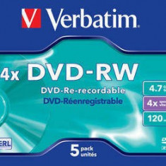 Mediu optic Verbatim 43285 DVD-RW Serl 4.7GB Silver 5 Buc