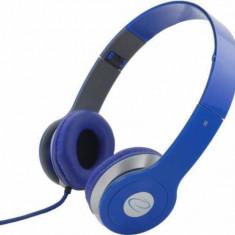 Casti Esperanza Techno Blue, Casti Over Ear, Cu fir, Mufa 3, 5mm