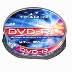 Mediu optic Esperanza DVD-R TITANUM 4.7GB 16x 10 bucati carcasa