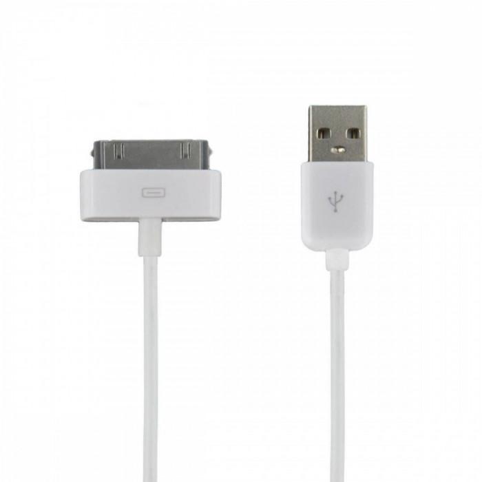 Cablu de date 4World USB 2.0 iPad/iPhone/iPod White