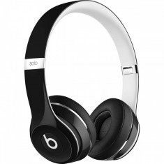 Casti Beats Solo2 Luxe Edition Black Monster Beats by Dr. Dre, Casti On Ear, Cu fir, Mufa 3, 5mm, Active Noise Cancelling