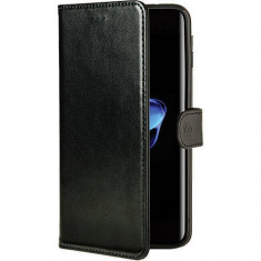 Husa Flip Cover Celly WALLY801BE Agenda Black Edition Negru pentru Apple iPhone 7 Plus - Husa Telefon