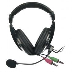 Casti Vakoss Over-Head SK-601HV Black, Cu fir, Mufa 3, 5mm
