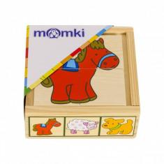 Puzzle din lemn MomKi Animale domestice mozaic