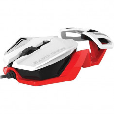 Mouse gaming Mad Catz RAT 1 White Red, USB, Optica