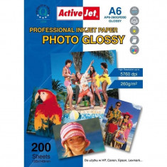 Hartie foto ActiveJet A6 Premium Glossy 260g - Hartie foto imprimanta