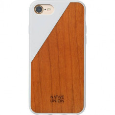 Husa Protectie Spate Native Union CLIC-WHT-WD-7 Walnut Wood Alb pentru Apple iPhone 7 - Husa Telefon Native Union, iPhone 7/8, Plastic, Carcasa