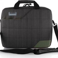 Geanta Laptop Modecom Montana Gri cu Verde 15.6 inch, Nailon