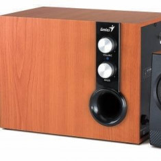 Sistem audio 2.1 Genius SW-HF 1205 Cherry Wood - Boxe PC