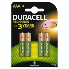 Acumulator Duracell AAAK4 750mAh 4buc Verde - Baterie Aparat foto Duracell, Tip AAA (R3)