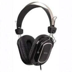 Casti A4Tech Over-Head HS-200 Black, Casti On Ear, Cu fir, Mufa 3, 5mm