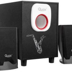 Sistem audio 2.1 Quer Comfort 12W Negru