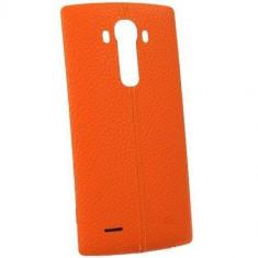 Husa Protectie Spate LG CPR-110 portocalie pentru LG G4 - Husa Telefon LG, Piele, Carcasa