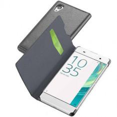 Husa Flip Cover Cellularline BOOKESSENXPRXAK Agenda Essential Negru pentru SONY Xperia XA - Husa Telefon