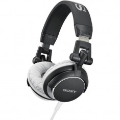 Casti Sony Over-Head MDR-V55 Black, Casti On Ear, Cu fir, Mufa 3, 5mm, Active Noise Cancelling