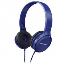 Casti Panasonic cu banda RP-HF100E-A Albastru, Casti Over Ear, Cu fir, Mufa 3, 5mm