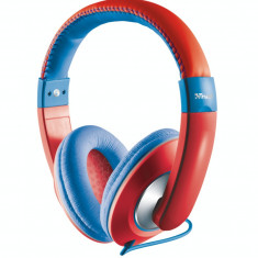 Casti Trust Sonin Kids Red / Blue, Casti Over Ear, Cu fir, Mufa 3, 5mm