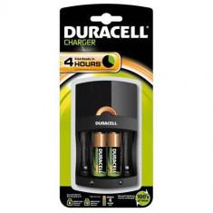 Incarcator Duracell CEF14 + 2 Acumulatori AAK2 R6 1300mAh - Baterie Aparat foto