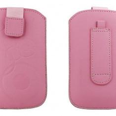 Toc OEM TSAPPIPH4ROZ Slim roz pentru iPhone 4 / Samsung Ace / Nokia E5 - Husa Telefon Oem, Vinyl