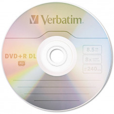 Mediu optic Verbatim DVD+R DL 8.5GB 8x Argintiu mat