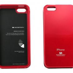 Husa Protectie Spate Goospery YJAPPIPH5ROS rosie pentru Apple iPhone 5 / 5S - Husa Telefon Goospery, iPhone 5/5S/SE