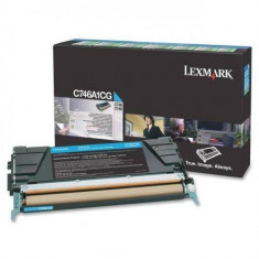 Consumabil Lexmark Consumabil toner pt C746 si C748 Cyan Return Program Toner Cartridge70000 pages
