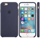 Husa Protectie Spate Apple Silicone Case Midninght Albastru pentru Iphone 6s - Husa Telefon Apple, iPhone 6/6S