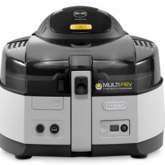 Friteuza Delonghi FH1163 Multifry cooker 1400W 1.7 kg negru / alb